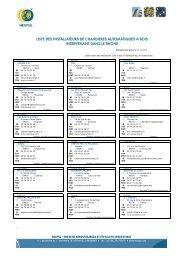 110915 - Liste installateurs Bois