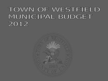2012 Municipal Budget Presentation
