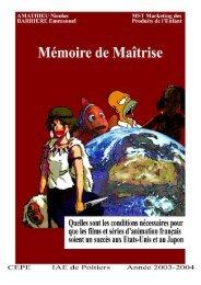 MÃ«moire final - Marquis de Carrabas' Works