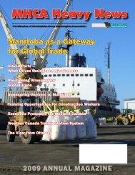 2009 Annual Magazine - Manitoba Heavy Construction Association