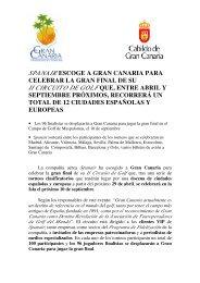 ii circuito de golf que, entre abril y - Cabildo de Gran Canaria