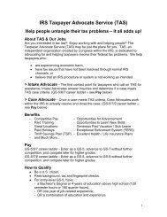 IRS Taxpayer Advocate Service (TAS)