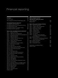 Financial reporting. - Nobel Biocare Annual Report 2010