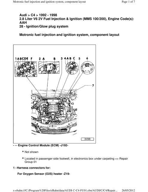 Engine Code(s): AAH 28 - Ignition/Glo