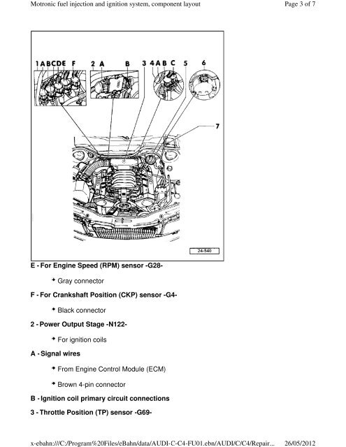 Motronic fuel injection a