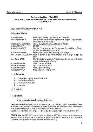 CR réunion 28 03 2011 PPAx - Le Renard