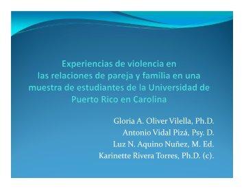 Experiencias de violencia en las relaciones de pareja ...