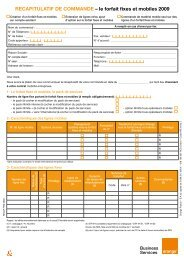 RECAPITULATIF DE COMMANDE – le forfait fixes ... - Orange mobile