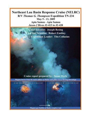 Cruise Report (PDF, 4.8Mb) - NOAA, Ocean Explorer