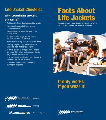 Facts About Life Jackets - Personal Flotation Device Manufacturers ...