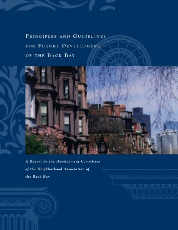 principles and guidelines for future development of the back bay