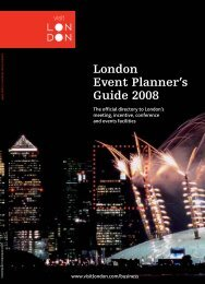 London Event Planner's Guide 2008 - London & Partners