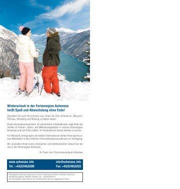 Winterinfo 2008-2009 INNENTEIL - Sporthotel Alpenrose