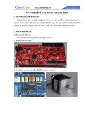 Key controlled step motor running demo - CooCox