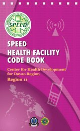speed health facility code book - WHO Western Pacific Region ...