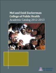 Master of Public Health - Mel and Enid Zuckerman Arizona College ...
