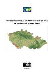 vyhodnocení vlivů uplatňování púr čr 2008 na udržitelný rozvoj území
