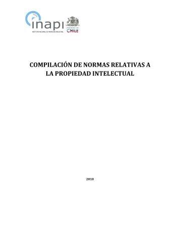 Compilación de normas relativas a la propiedad intelectual - Inapi