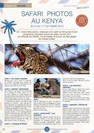 SAFARI PHOTOS AU KENYA - Jardinot - Le jardin du cheminot