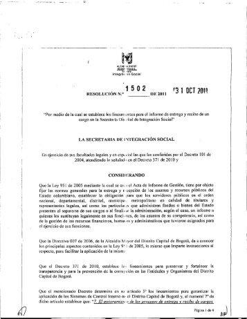 Lineamientos para el Informe entrega y recibo de ... - Página principal