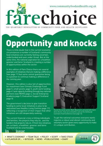 Fare Choice Issue 47 - Community Food and Health