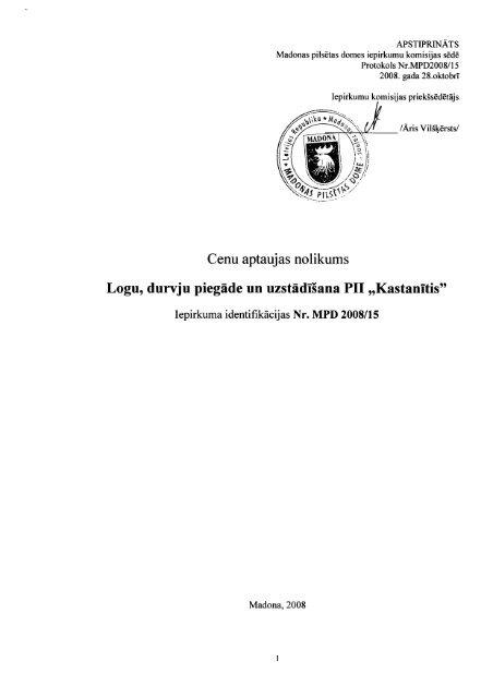 Tehniskā specifikācija - Madona.lv