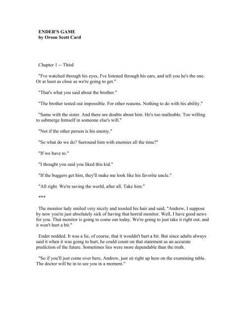 Ender's Game PDF