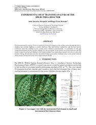 experimental heat transfer analysis of the ipr-r1 triga reactor - CDTN