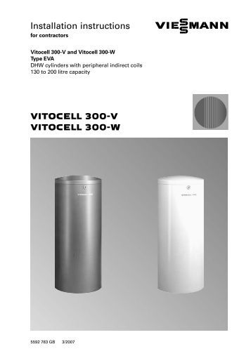 installation instructions vitocell r 100 v viessmann. Black Bedroom Furniture Sets. Home Design Ideas