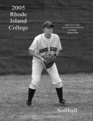 2005 Rhode Island College Softball - Rhode Island College Athletics