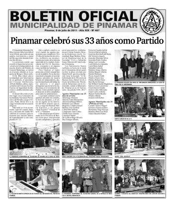Pinamar celebró sus 33 años como Partido - Gobierno Municipal del ...