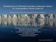Development of a Remotely Operated Underwater Vehicle for ...