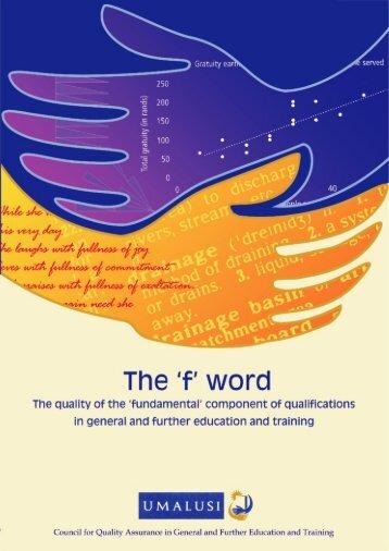 'F' word - Umalusi