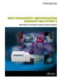 high throughput centrifugation heraeus® multifuge ... - Catalogus.de