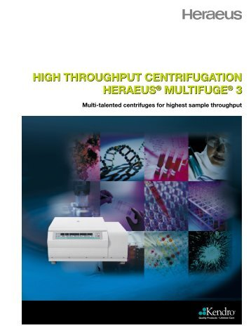 high throughput centrifugation heraeus® multifuge ... - Catalogus.de