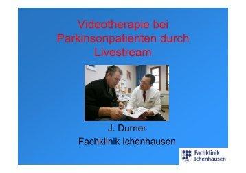 Telemedizin - Videotherapie bei Parkinsonpatienten durch Livestream