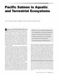 Pacific Salmon in Aquatic and Terrestrial Ecosystems - University of ...