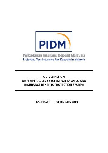 Guidelines on Differential Levy System For Takaful and ... - PIDM