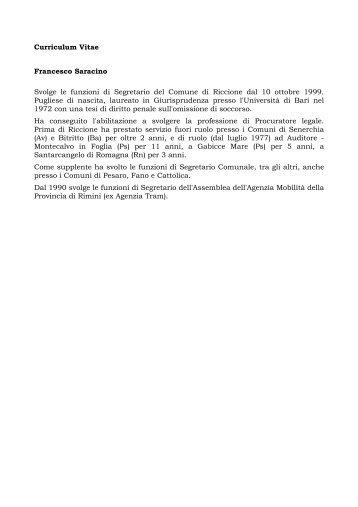 Curriculum Vitae - Comune di Riccione