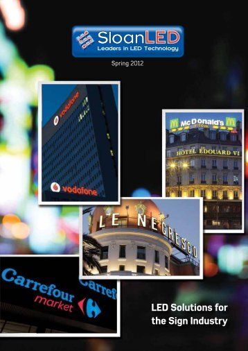 LED Solutions for the Sign Industry - Perspex