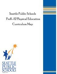 Curriculum Details Physical Education in the Seattle Public Schools