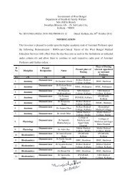 Departmental promotion for the post of Assistant Prof. under WBMES