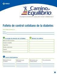 Folleto de control cotidiano de la diabetes - Januvia.com