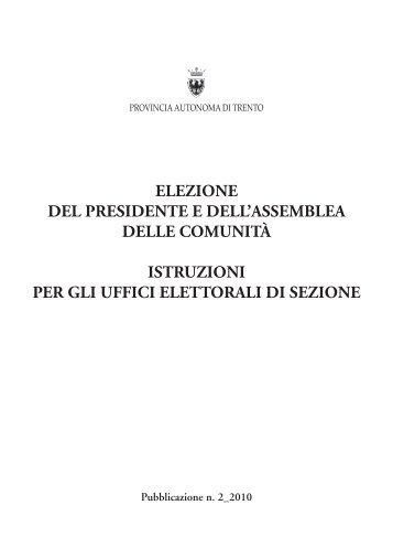 Istruzioni per gli uffici elettorali di sezione - Provincia autonoma di ...