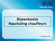 Presentatie nascholing chauffeurs - Evo