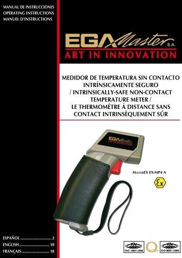medidor de temperatura sin contacto intrínsicamente ... - Ega Master