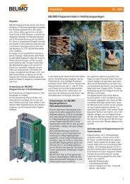 BELIMO-Klappenantriebe in Holzheizungsanlagen