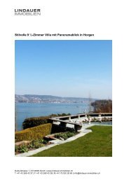 Stilvolle 9 ½-Zimmer Villa mit Panoramablick in Horgen - Lindauer ...