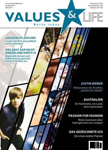 JUSTIN BIEBER AUSTRALIEN PASSION FOR ... - Values & Life