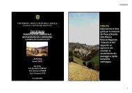 Pianificazione ambientale nei paesaggi dell'erosione - Planeco